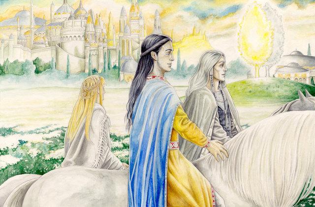 Arrivo degli Elfi in Aman