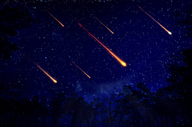 First recorded meteor shower