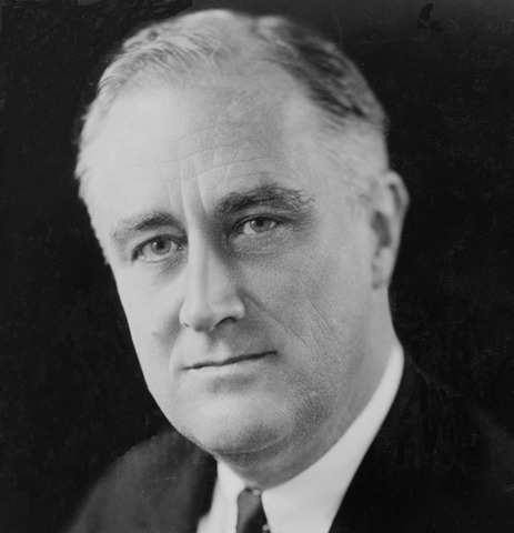 Franklin Roosevelt elected President of the United States.