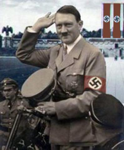 Hitler was elected as chancellor