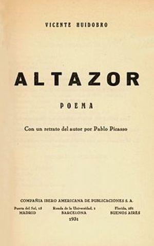 Altazor (Vicente Huidobro)