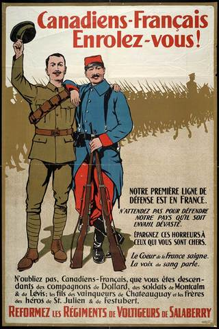 Conscription crisis during World War One