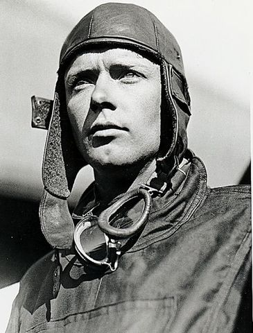 First person to fly the Atlantic-Charles A. Lindbergh