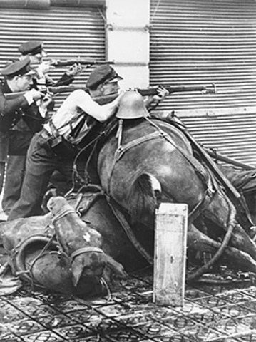 Spain in civil war