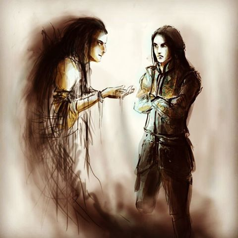 Incontro tra Fëanor e Melkor
