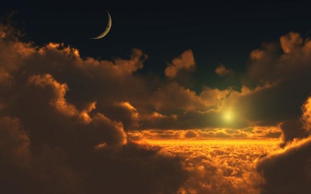 Prima apparizione della Luna e del Sole e inizio della Prima Era