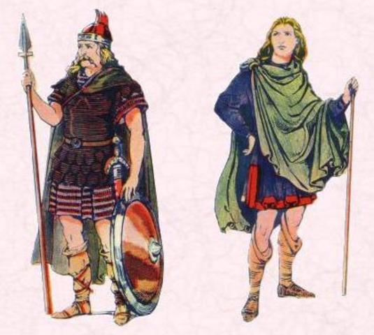 Германские племена на территории Британии