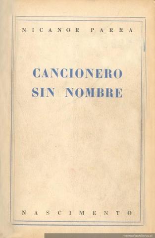 Cancionero sin nombre de Nicanor Parra