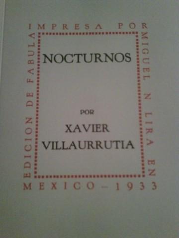 Nocturnos de Xavier de Villaurrutia