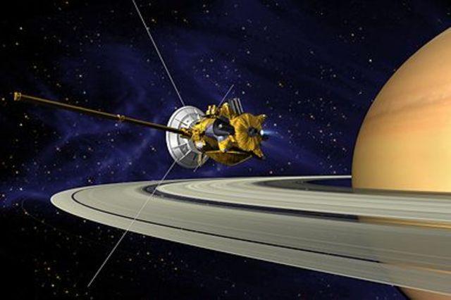 Cassini-Huygens enters space