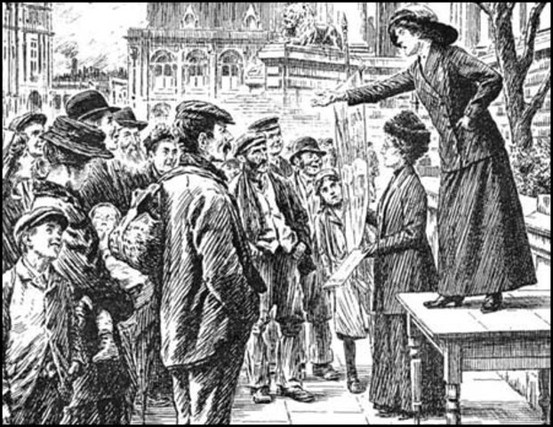 First unrestricted suffrage for women