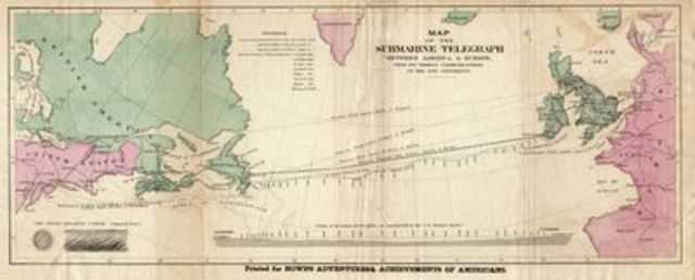 Primer cable telefónico trasatlántico.