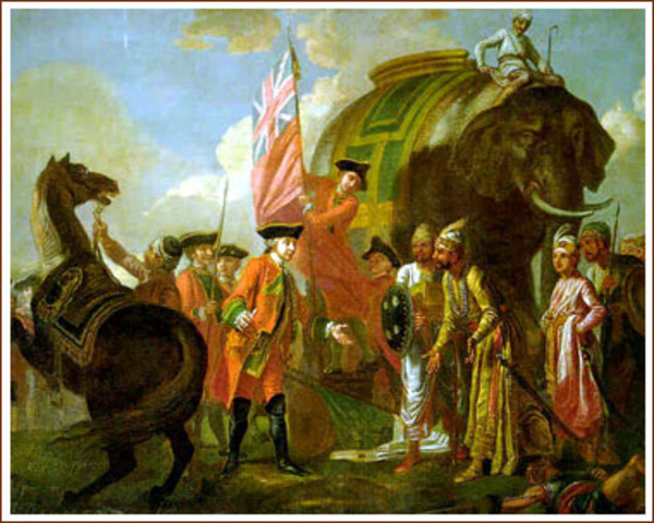 British overcome french and take control of india