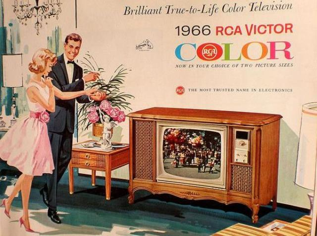 Colored Televisions are invented