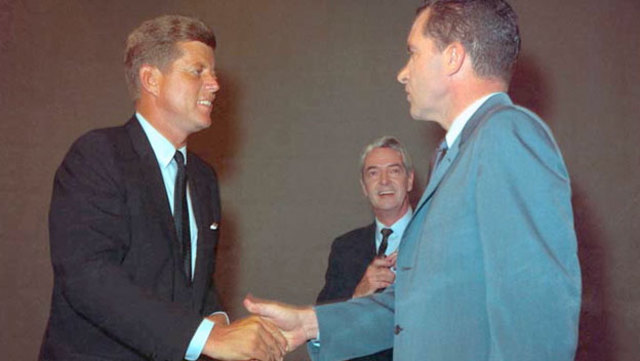 Nixon and Kennedy Election Broadcast