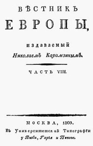 """Появление """"Вестника Европы"""""""