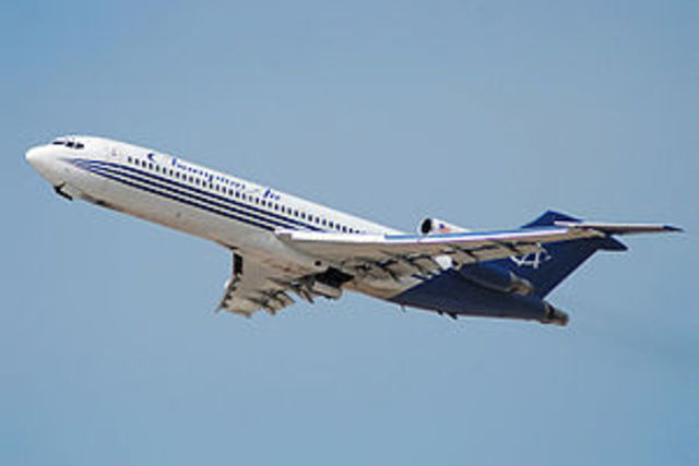 The first boeing 727 flew
