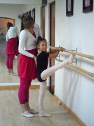 Entré a clases de ballet