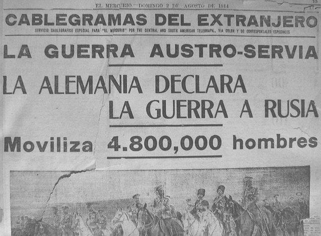 ALEMANIA DECLARA GUERRA A RUSIA Y FRANCIA