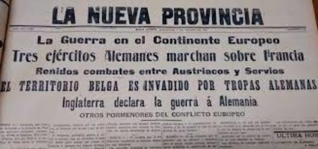 DECLARACION DE LA GUERRA