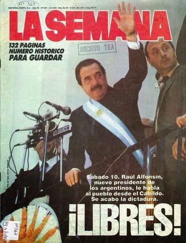 Vuelta de la democracia en Argentina