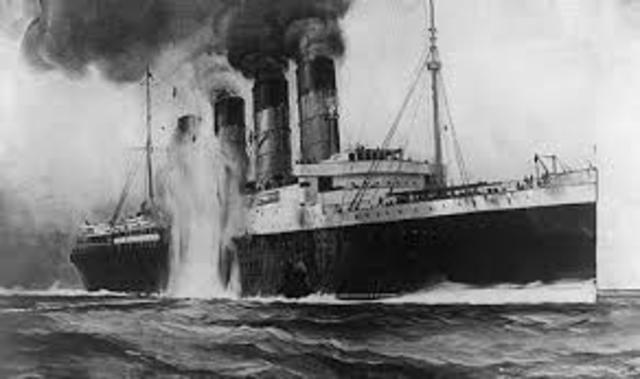 BARCO BRITANICO RMS LUSITANIA