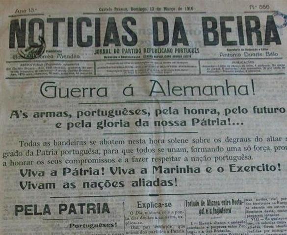 INICIO DE LA GUERRA PORTU-ALEMANA