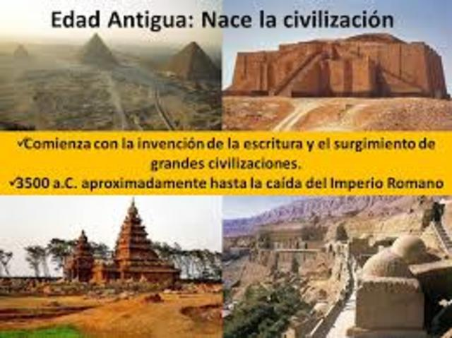 EDAD  ANTIGUA (3500 a.c - 475 d.c