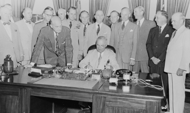 National Security Act of 1947 becomes effective