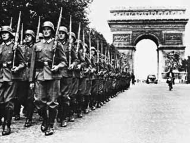 Tropas alemanas llegan a Francia