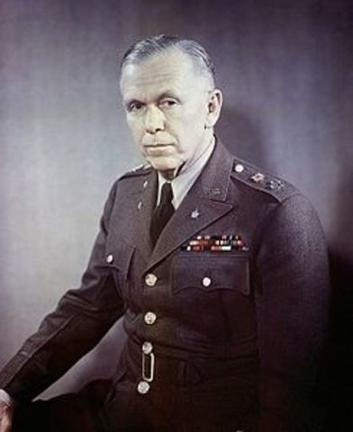 Marshall elabora il suo piano di aiuti per l'Europa