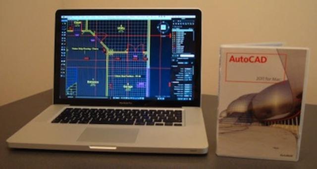. AutoCAD versión 2011, primera versión para MAC desde la versión 12.