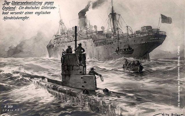"""El paquebote británico """"Lusitania"""""""