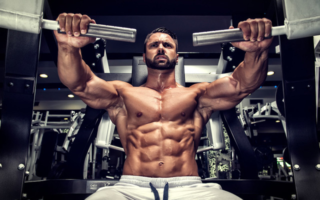 go to the gym and try to build muscle