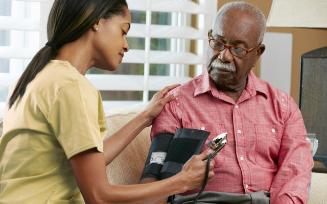 blood pressure screening once a year