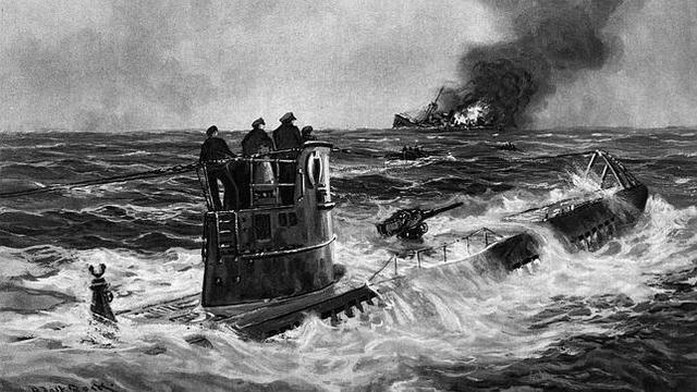 Comienzo de la guerra submarina alemana.