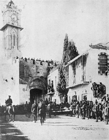 Los británicos entran en Jerusalén.