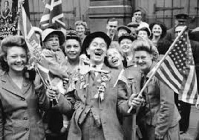 Victoria de los Aliados y armisticio de la Primera Guerra Mundial.