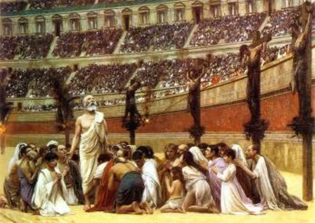 se prohíben los cultos paganos en roma