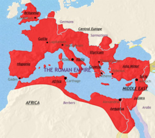 The Roman Empire at its Largest