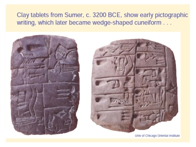 Writing using the clay tablets