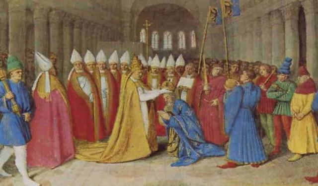 carlomagno es coronado, emperador del imperio carolingio
