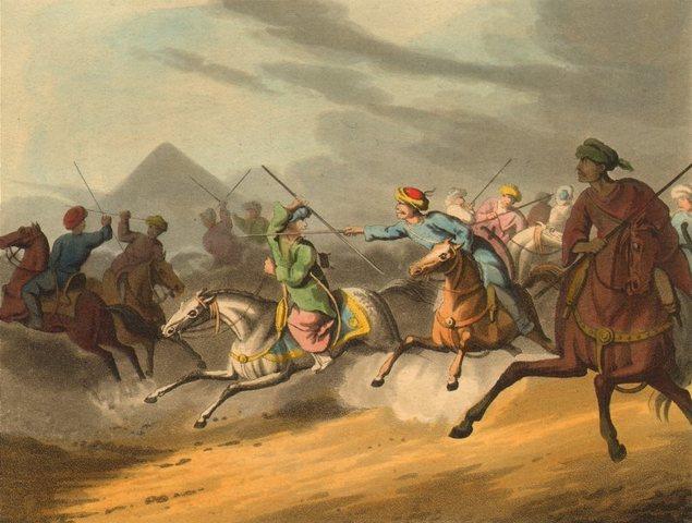 los mamelucos entran a egipto
