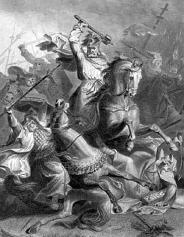 Batalla de Potiers: Muerte de Al Gafiki
