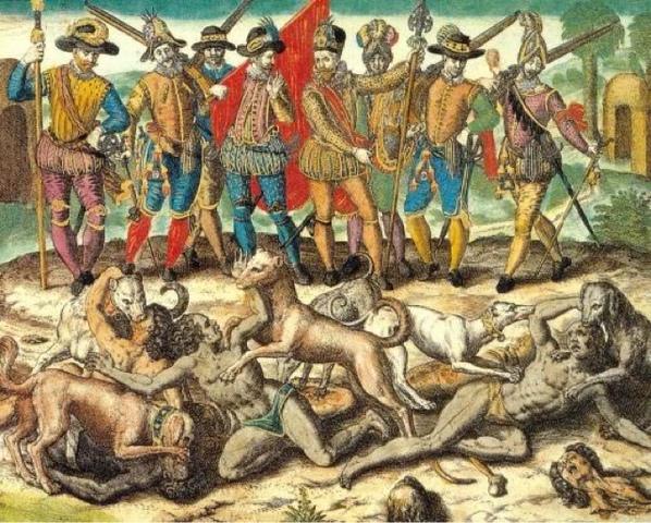 XVI La caída de la ultima ciudad maya independiente. (wikipedia)