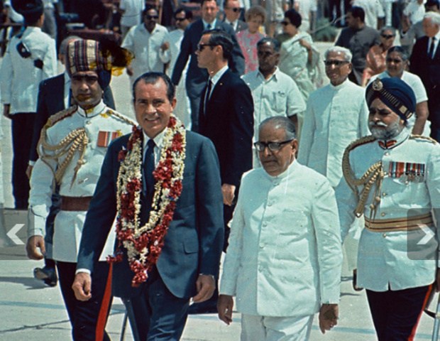 President Richard Nixon visits India