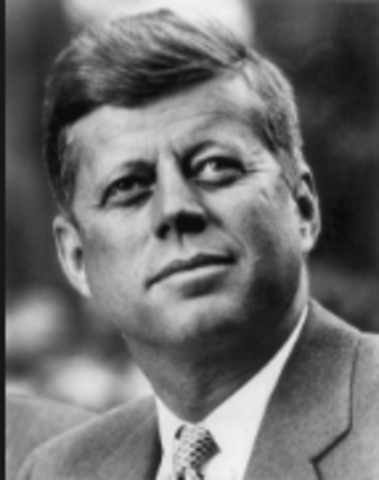 John F Kennedy becomes the President of the US