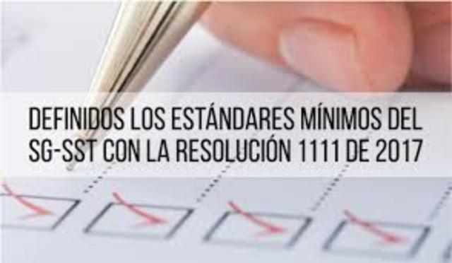 Colombia, estandares minimos del SGSST