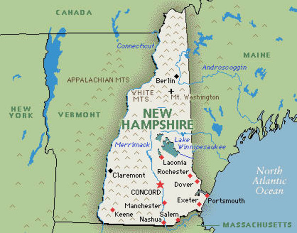 New Hampshire becomes a state