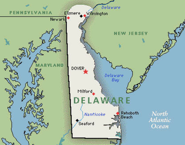 Delaware becomes a state